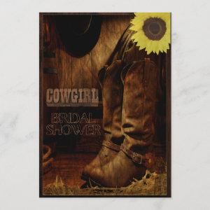 Rustic Country Western Cowgirl Bridal Shower Invitation starting at 2.66