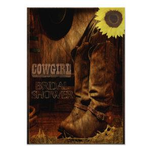 Rustic Country Western Cowgirl Bridal Shower Invitation starting at 2.36