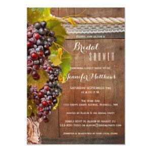 Rustic Country Wine Themed Bridal Shower Invite starting at 2.55