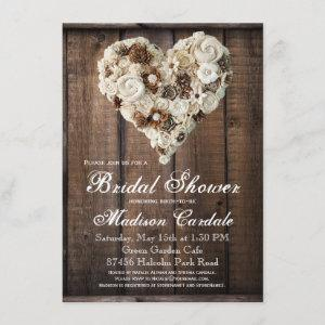 Rustic Country Wood Flower Heart Bridal Shower starting at 2.15