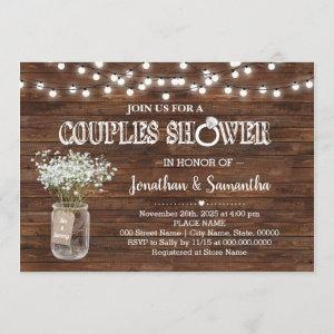Rustic couples shower country barn wedding shower invitation starting at 2.55