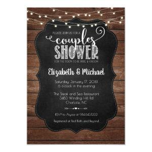 Rustic Couples Shower Invitation starting at 2.40