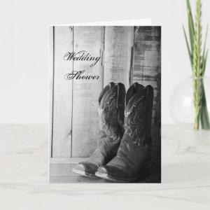 Rustic Cowboy Boots Western Couples Wedding Shower Invitation starting at 3.55