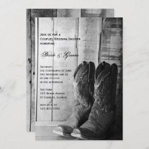 Rustic Cowboy Boots Western Couples Wedding Shower Invitation starting at 2.60