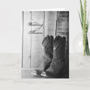 Rustic Cowboy Boots Western Couples Wedding Shower Invitation starting at 3.45