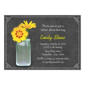 Rustic Daisy & Mason Jar Chalkboard Bridal Shower Invitation starting at 2.40