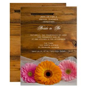 Rustic Daisy Trio Country Bridal Shower Invitation starting at 2.60