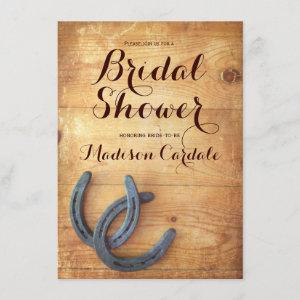 Rustic Double Horseshoes Bridal Shower Invitations starting at 2.63