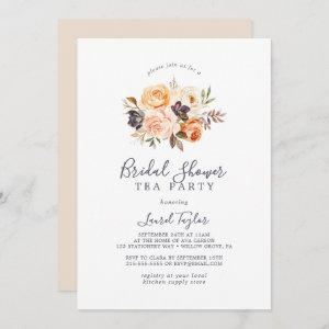 Rustic Earth Florals Bridal Shower Tea Party Invitation starting at 2.51