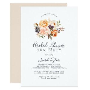 Rustic Earth Florals Bridal Shower Tea Party Invitation starting at 2.26