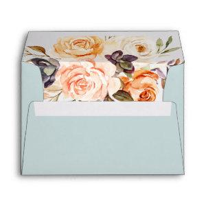 Rustic Earth Florals   Mint Wedding  Envelope starting at 0.85