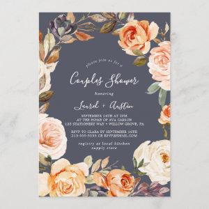 Rustic Earth Florals | Purple Couples Shower Invitation starting at 2.51