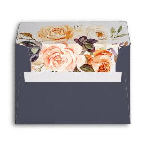 Rustic Earth Florals   Purple Wedding  Envelope starting at 0.85