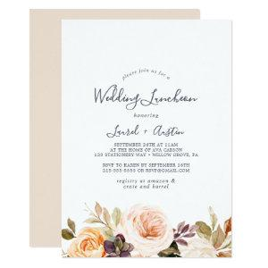 Rustic Earth Florals Wedding Luncheon Invitation starting at 2.51
