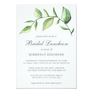 Rustic Elegant Watercolor Greenery Bridal Luncheon Invitation starting at 2.26