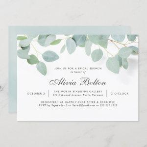 Rustic Eucalyptus Bridal Brunch Invitation starting at 2.40