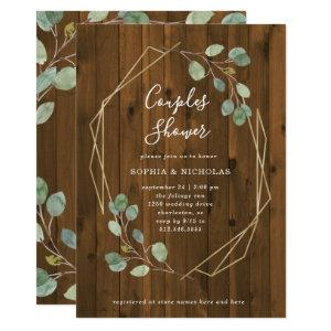 Rustic Eucalyptus | Geometric Couples Shower Invitation starting at 2.40