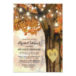 Rustic Fall Autumn Tree Lights Bridal Shower Invitation starting at 2.26