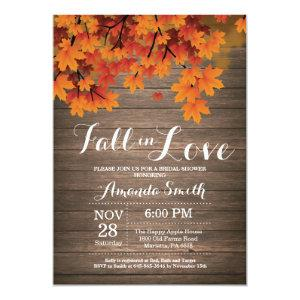 Rustic Fall Bridal Shower Invitation Card starting at 2.10