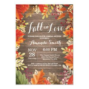 Rustic Fall Bridal Shower Invitation Card starting at 2.35