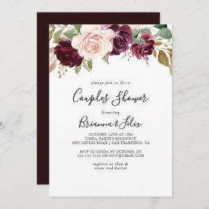 Rustic Floral and Botanical Foliage Couples Shower Invitation starting at 2.51