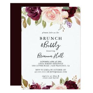 Rustic Floral Brunch and Bubbly Bridal Shower Invitation starting at 2.51
