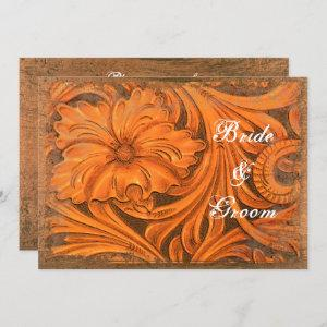 Rustic Flower Couples Country Wedding Shower Invitation starting at 2.60