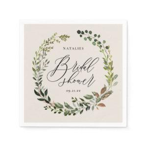 Rustic foliage wreath bridal shower party napkins starting at 39.00