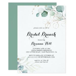 Rustic Gold Floral Bridal Brunch Bridal Shower Invitation starting at 2.51