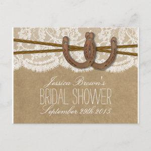 Rustic Horseshoes Bridal Shower Recipe Cards starting at 1.70