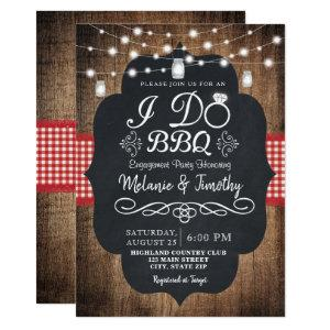 Rustic I Do BBQ Country Engagement Invitations starting at 2.51