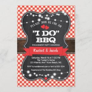 Rustic I DO BBQ Couples Shower Engagement Party Invitation starting at 2.66