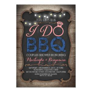 rustic I do BBQ couples shower invitation starting at 2.35