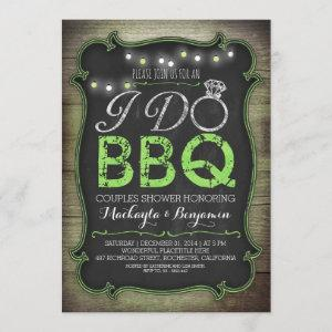 rustic I do BBQ couples shower invitation - green starting at 2.35