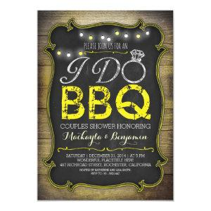 rustic I do BBQ couples shower invitation - yellow starting at 2.35