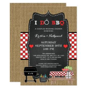 Rustic I DO BBQ couples wedding shower invitation starting at 2.51