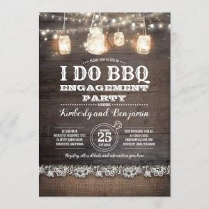 Rustic I DO BBQ Engagement Party Couples Shower Invitation starting at 2.51