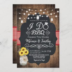 Rustic I Do BBQ Sunflower Engagement Invitations starting at 2.51
