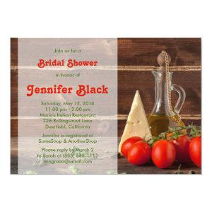 Rustic Italian Oil Tomatoes Cheese Bridal Shower Invitation starting at 2.66