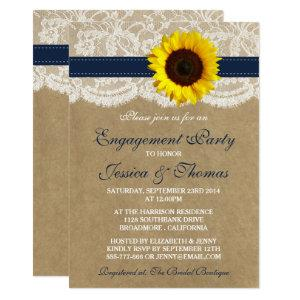 Rustic Kraft Sunflower Engagement Party Or Shower Invitation starting at 2.51