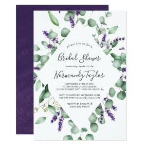 Rustic Lavender and Eucalyptus Bridal Shower Invitation starting at 2.51