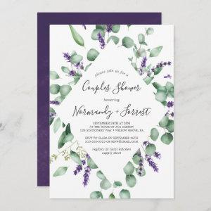 Rustic Lavender and Eucalyptus Couples Shower Invitation starting at 2.51