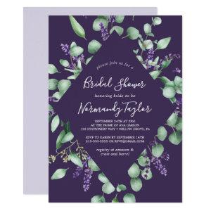 Rustic Lavender & Eucalyptus Purple Bridal Shower Invitation starting at 2.51