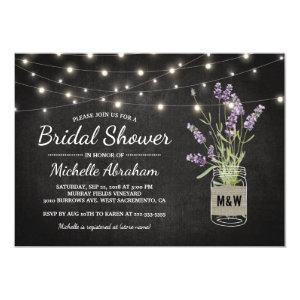 Rustic Lavender Mason Jar Lights Bridal Shower Invitation starting at 2.40