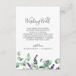 Rustic Lavender Wedding Wishing Well Card starting at 1.91