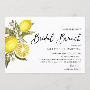 Rustic Lemon Bridal Brunch Shower Invitation starting at 2.50