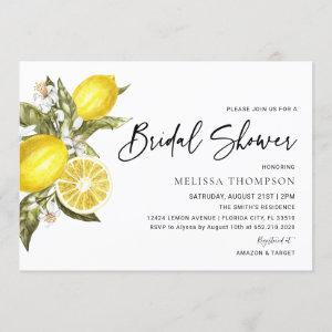 Rustic Lemon Bridal Shower Invitation starting at 2.50