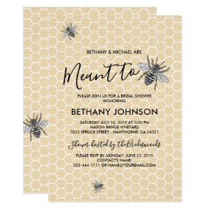 Rustic Meant to Bee Bridal Shower Invitation starting at 2.40
