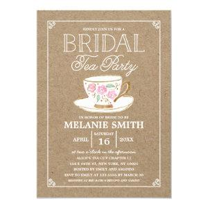 Rustic Modern Bridal Tea Party | Bridal Shower Invitation starting at 2.40