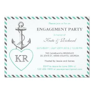 Rustic Monogram Anchor Engagement Party Invitation starting at 2.51